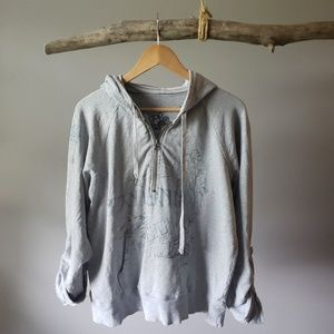 Gap thin grey hoodie xxl